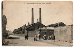 Vieux Condé (59) - N°1 - Rue Et Usine Dervaux - Ed: Hautmont - 2 Scans - Vieux Conde