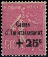 FRANCE 254 * MH Caisse Amortissement Surcharge Semeuse Lignée 1929 Cote 35 € [GR] - Ongebruikt