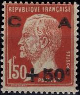FRANCE 255 * MH Caisse Amortissement Surcharge Pasteur 1929 Cote 65 € [GR] - Ongebruikt