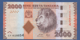 TANZANIA - P.42a – 2.000 SHILLINGS ND (2010-2020) - UNC Prefix CF - Tanzania