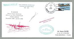 1986 PLI USA MISSION FRANCO AMÉRICAINE IAGO - KATABATIC WIND STUDY - Covers & Documents