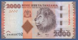 TANZANIA - P.42b – 2.000 SHILLINGS ND (2010-2020) - UNC Prefix DN - Tanzania