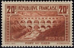 FRANCE 262 ** MNH Pont Du Gard Type IIB 1930 Cote 550 € [GR] - Ungebraucht