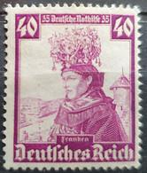 """Deutsches Reich 1935, Mi 597 """"Nothilfe"""" Höchstwert MNH Postfrisch - Ungebraucht"""