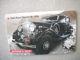 6870 Télécarte Collection  VOITURE ROLLS ROYCE Phantom III  1936 JERSEY    (scans Recto Verso)  Carte Téléphonique - Voitures