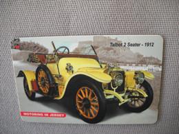 6871 Télécarte Collection  VOITURE  TALBOT 2 SEATER 1912 JERSEY    (scans Recto Verso)  Carte Téléphonique - Voitures