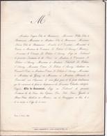 PARIS Elie De BEAUMONT Juge Tribunal Seine Famille LE PELETIER D'AUNAY 1843 - Esquela