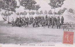 AK Manoeuvres Militaires - Un Coin Du Campement - Franz. Soldaten Im Zeltlager - 1906 (54970) - Oorlog 1914-18