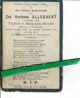Zoé Allegaert O Grammene 1907 + Grammene 1916 - Images Religieuses