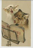 CHATS - CAT - Jolie Carte Fantaisie Gaufrée Chorale De Chats (embossed Postcard)  - PFB SERIE 2285 - Gatti
