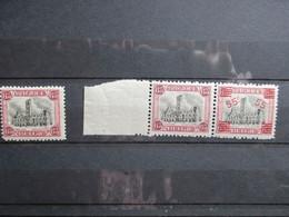 Nr 182 + 188A - Stadhuis Van Dendermonde - MNH** - 1915-1920 Albert I