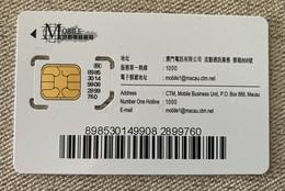 Mint GSM / SIM Macao - Macau
