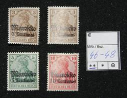 Nr. 46-48 DP Marokko Postfrisch - Ufficio: Marocco