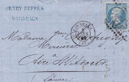 Yvert  22  Empire Franc LAC GC 532 Bordeaux  Pour Aire/Adour1868 - 1849-1876: Periodo Classico