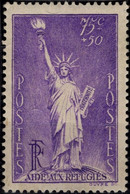 FRANCE 309 * MH Statue De La Liberté Du Sculpteur BARTHOLDI Réfugiés Politiques Refugees 1936 (CV 11 €) [GR] - Nuevos