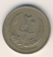 LIBYA 1965: 20 Milliemes, KM 9 - Libya
