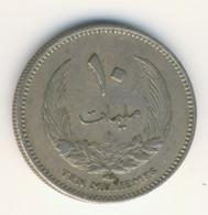 LIBYA 1965: 10 Milliemes, KM 8 - Libya