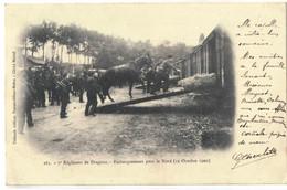 CPA   FONTAINEBLEAU    7éme Dragons ,Embarquement Pour Le Nord , Octobre 1902    N° 263 - Fontainebleau