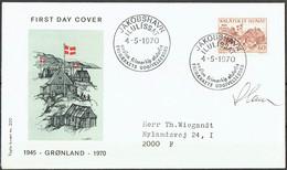 Czeslaw Slania. Greenland 1970. 25 Anniv Liberation Of Greenland. Michel 76 FDC.. Signed. - FDC