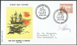 Czeslaw Slania. Greenland 1971.  Hans Egede. Michel 77 FDC.. Signed. - FDC