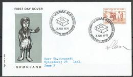 Czeslaw Slania. Greenland 1971.  Hans Egede. Michel 78 FDC.. Signed. - FDC