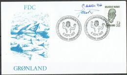 Czeslaw Slania. Greenland 1977.  Handicrafts. Michel 100 FDC. Signed. - FDC
