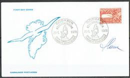 Czeslaw Slania. Greenland 197.  100 Anniv Commission For Scientific Investigations In Greenland. Michel 105 FDC. Signed. - FDC