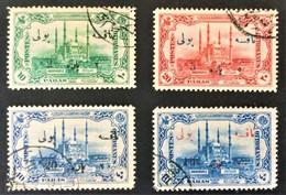 1914 Wiedereroberung Von Edirne Mitneuem Wertaufdruck Portomarken 39-42 - Gebruikt