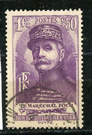 FRANCE - FOCH - N° Yvert 455 Obli. - Gebraucht
