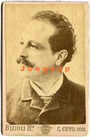 Photo Cabinet Bizioli Hnos. Man Moustache Portrait Buenos Aires Argentina - Old (before 1900)