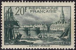 FRANCE 394 ** MNH Port De Saint-Malo Cote 100 € 1938 [GR] - Unused Stamps