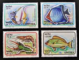 FAUNE MARINE 1995 - NEUFS ** - YT 250/53 - MI 51/54 - RARES !! - Eritrea