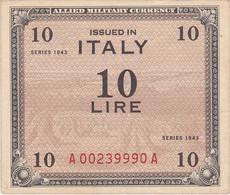 ITALY, 10 Lire 1943 - Allied Occupation WWII