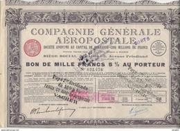 COMPAGNIE GENERALE AEROPOSTALE 1929 - Aviazione