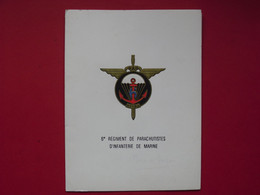 Carte De Voeux  Du 6° Rég. Para. D'Inf. De Marine  /  Lt Colonel  DE LLAMBY - Hueste