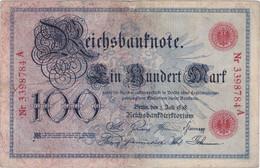 DEUTSCHLAND, 100 Mark 1898 - 100 Mark