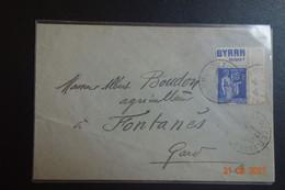 Lettre Avec Publicité BYRRH Tonique  B/F - 1921-1960: Periodo Moderno