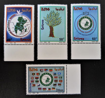 COMESA 1995 - NEUFS ** - YT 262/65 - MI 63/66 - BAS ET BORD DEFEUILLES - RARES - Eritrea