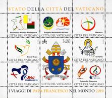 Vatican - 2020 - Pope World Voyages In 2019 - Mint Souvenir Sheet - Nuevos