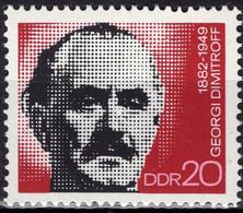DDR RDA ALLEMAGNE DEMOCRATIQUE 1470 ** MNH Georg Dimitrov Georgi Dimitroff 1972 - Unused Stamps
