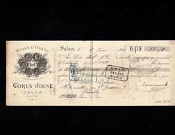 SALON (Bouches Du Rhône) - Lettre De Change Illustrée De 1888 - HUILES D'OLIVES - GOREN JEUNE - Wissels