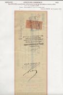 FISCAUX DE MONACO EFFET DE COMMERCE N°5  25 C BRUN Percé En ZIG ZAG 1933 - Fiscaux