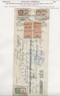 FISCAUX DE MONACO EFFET DE COMMERCE N°10  50 C BRUN Percé En ZIG ZAG 2 Ex  1933 - Fiscaux