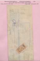 FISCAUX DE MONACO EFFET DE COMMERCE N°12  1F50 BRUN Percé En ZIG ZAG  1941 ( Usage Tardif) - Fiscaux