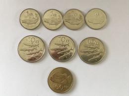 Islande 4x 1 Krona (1999, 2007, 2x 2011) - 3x 10 Kronur (1996, 2x 2008) - 1x 100 Kronur 2004 - Iceland