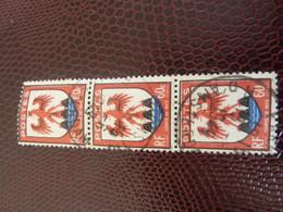 ARMOIRIE - Nice - 60c. - Noir, Rouge Et Outremer - Triple Oblitérés - Année 1946 - - Usados