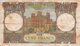 Billet, Maroc, 100 Francs, 1946, 1946-06-18, KM:20 - Morocco