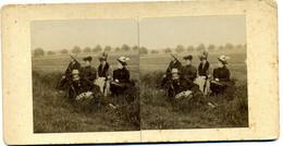 Photo Stéréoscopique - Scène De Genre - Photographe  En  Famille  à  Villers Sous St Leu ( Oise ) En  1906 ( H 99 ) - Stereoscopio