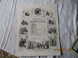Ancienne Partition  Gravure Romances Choisies Ernest Leine A Bord Marine Chez Gambogi - Partitions Musicales Anciennes