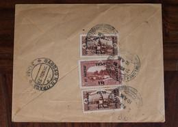 1921 Iraq In British Occupation Postes Ottomanes Mail Cover England Irak Paire Empire Ottoman Turquie Via Palestine - Briefe U. Dokumente